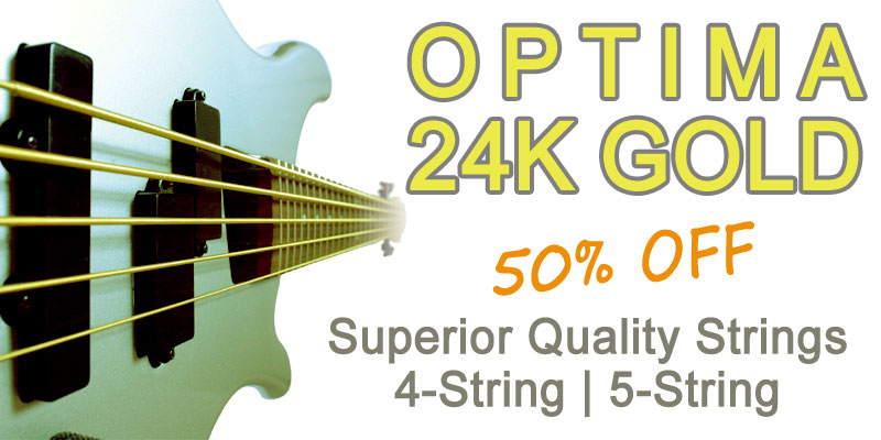 Optima 24K Gold Bass Strings