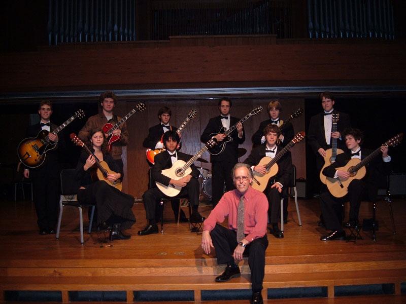 John Wunsch With His Interlochen Guitar Students