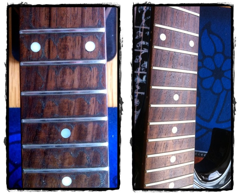 FRETBOARD BEFORE AND AFTER